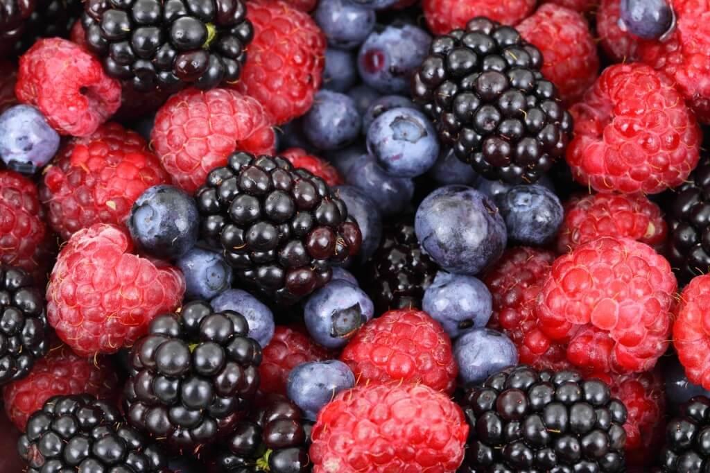 ежевика и ягоды