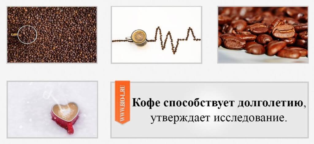 Кофе способствует долголетию